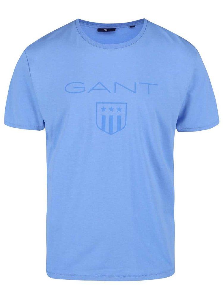 Modré pánské triko s krátkým rukávem GANT