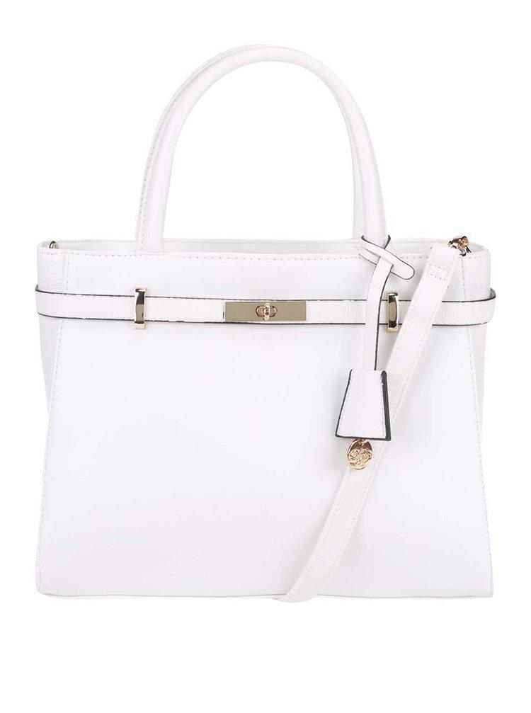 Bílá kabelka s detaily ve zlaté barvě Dorothy Perkins