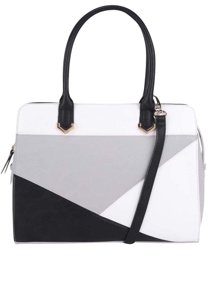 Černo-bílo-šedá kabelka DSUK