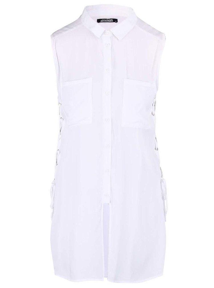 Bluză tip cămașă Haily's Pam albă