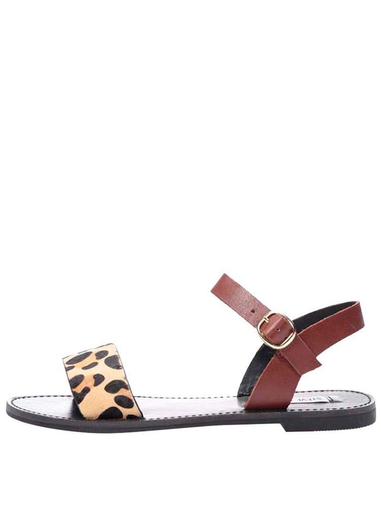 Kožené sandále s leopardím vzorom Steve Madden Donddi