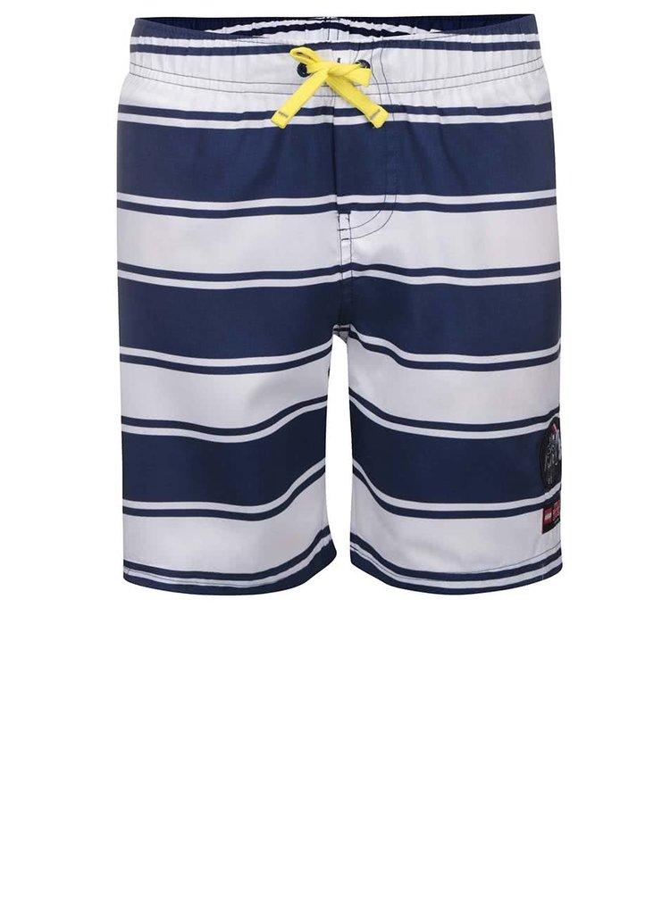 Pantaloni de plajă LEGO Wear Star Wars albastru cu alb