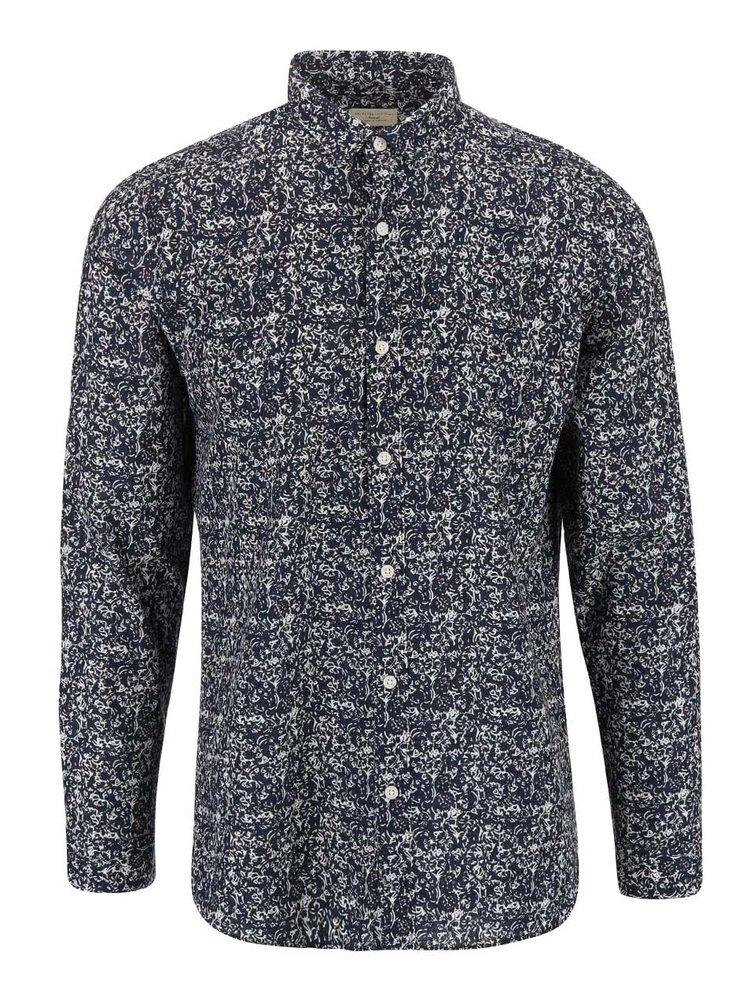 Tmavě modrá slim fit košile se vzorem Selected Homme One Riviera