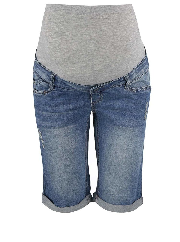 Pantaloni scurți Mama.licious Alba albaștri