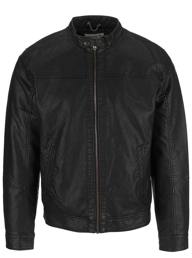 Jachetă de piele Jack & Jones Insert neagră