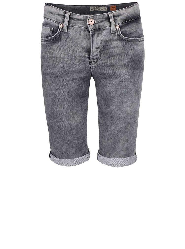 Sivé chlapčenské rifľové kraťasy Cars Jeans Atlanta