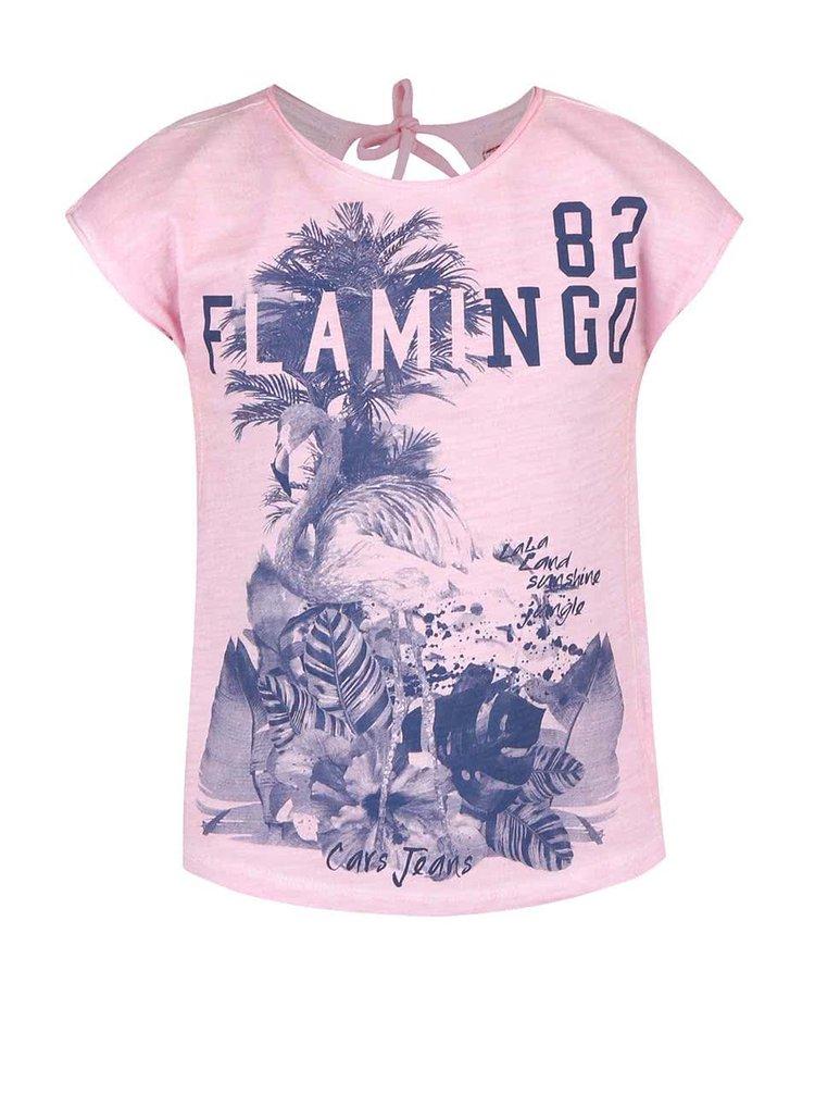 Růžové holčičí tričko bez rukávů Cars Jeans Cameron