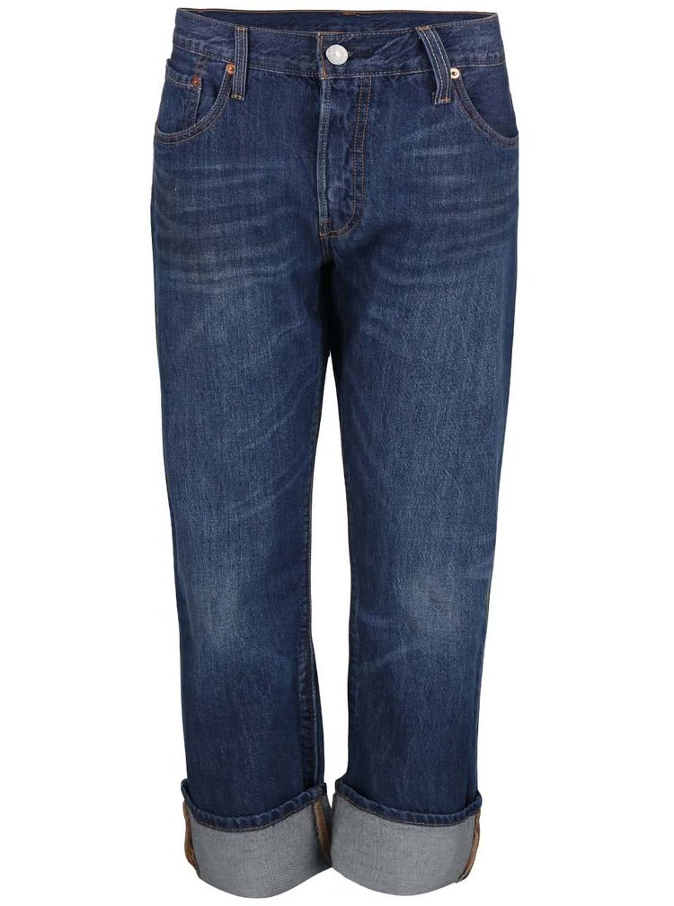 Modré dámské rovné džíny Levi's® 501