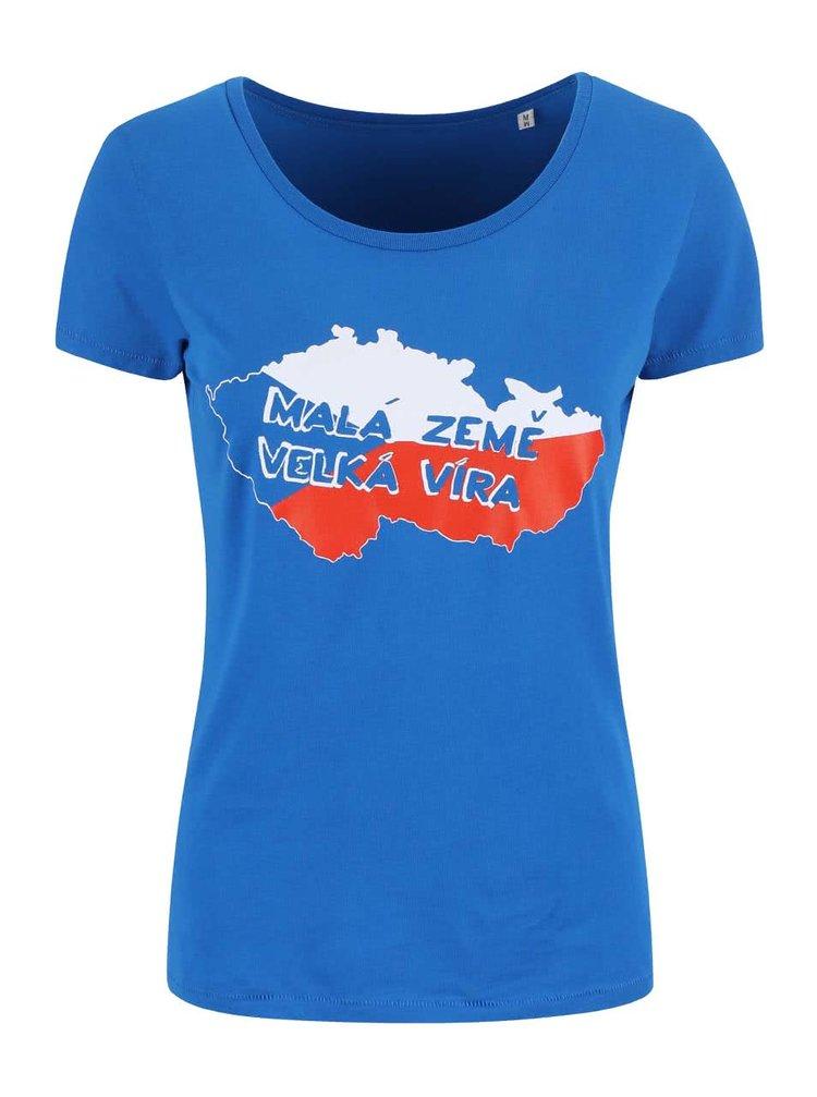 Modré dámské tričko ZOOT Originál Malá země