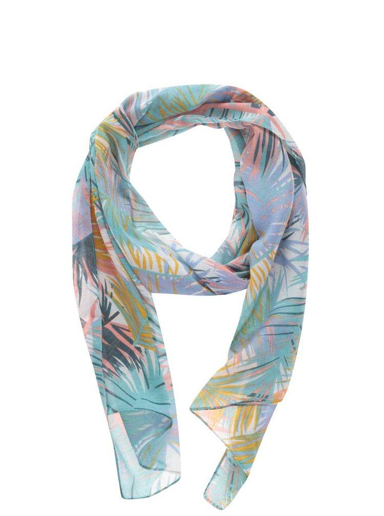 Tyrkysový vzorovaný šátek Pieces Belinda