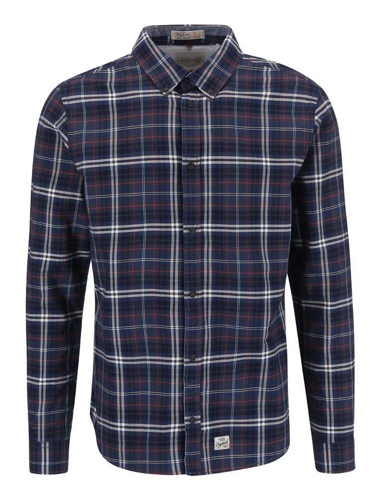 Tmavomodrá kockovaná košeľa Blend