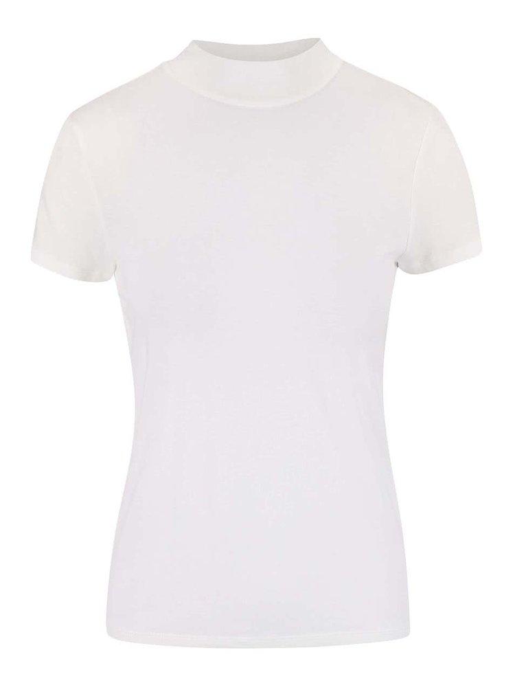 Krémové tričko so stojatým golierom VERO MODA Bellis