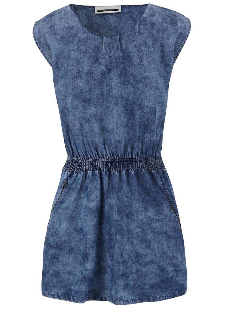 Modré rifľové šaty Noisy May We