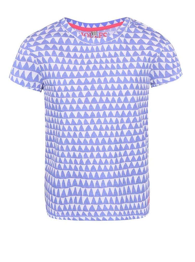 Modré dievčenské tričko s cikcak vzorom Tom Joule Sophie