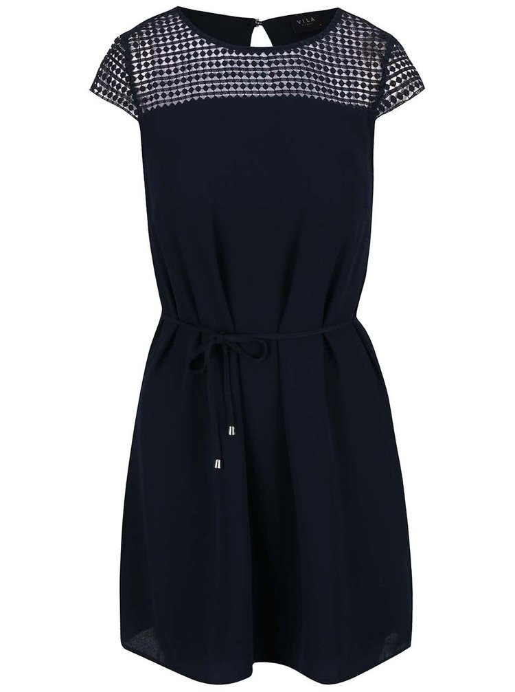 Tmavě modré šaty VILA Vani