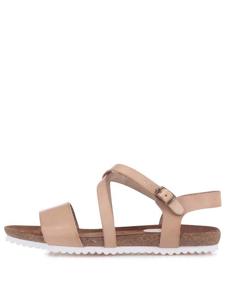 Tělové kožené sandály OJJU