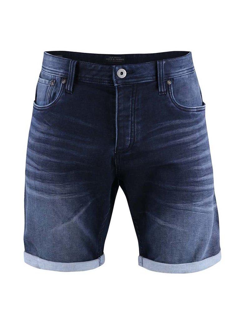 Pantaloni scurți Jack & Jones Rick albaștri, din denim