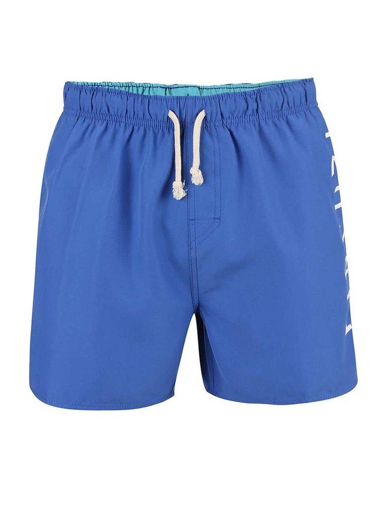 Modré pánské plavky s nápisem Rip Curl Brash