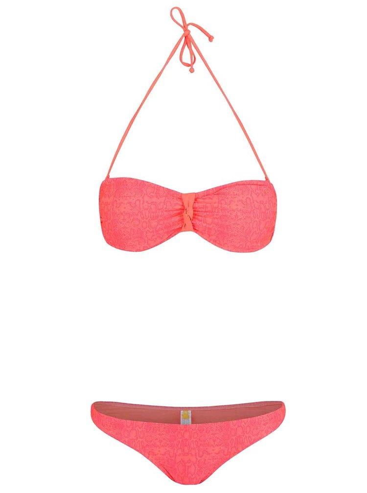 Costum de baie Rip Curl Snake roz