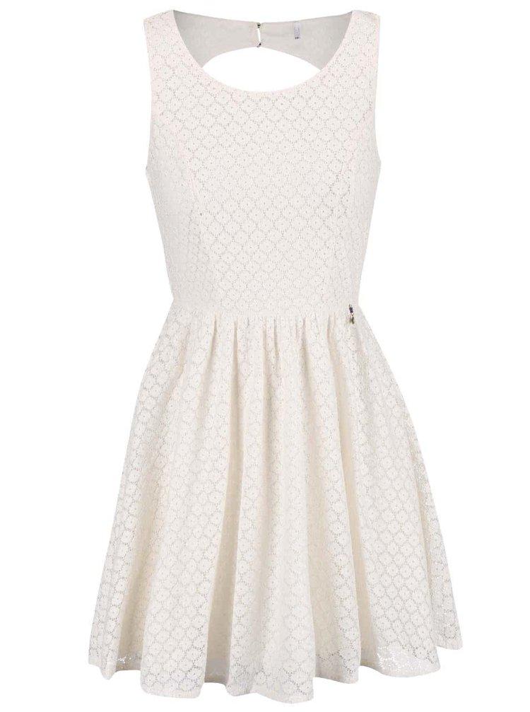 Krémové čipkované šaty ONLY Line Fairy
