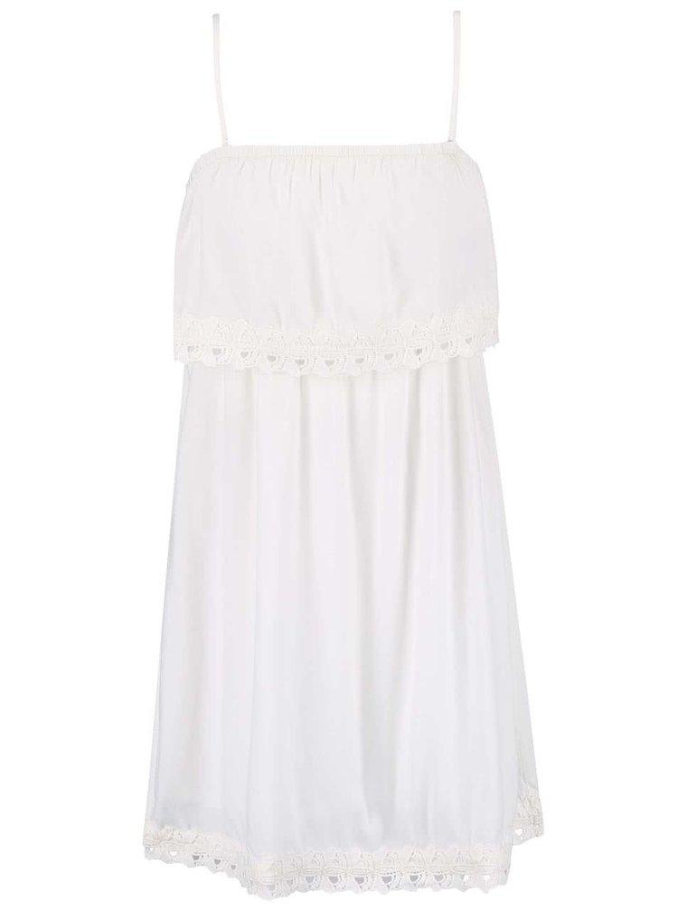 Krémové šaty na ramínka ONLY Kasia