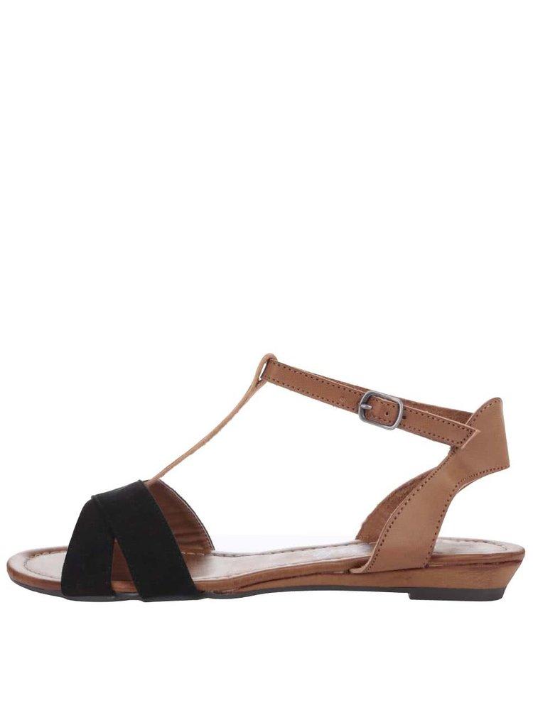 Černo-hnědé sandálky Refresh