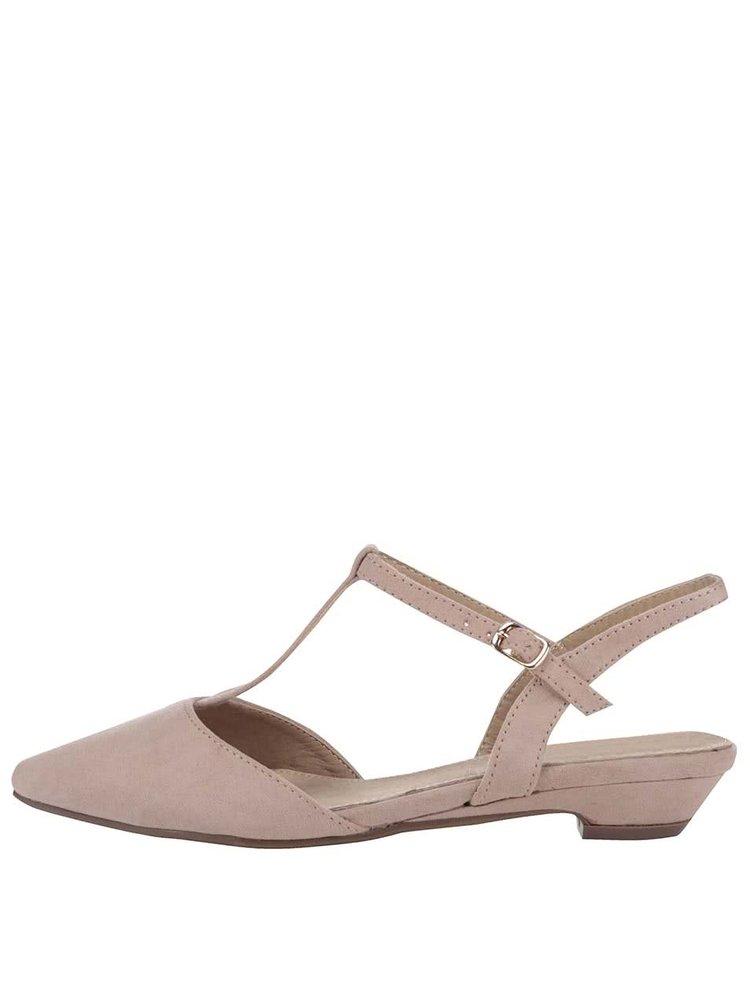 Krémové sandále s uzavretou špičkou Xti