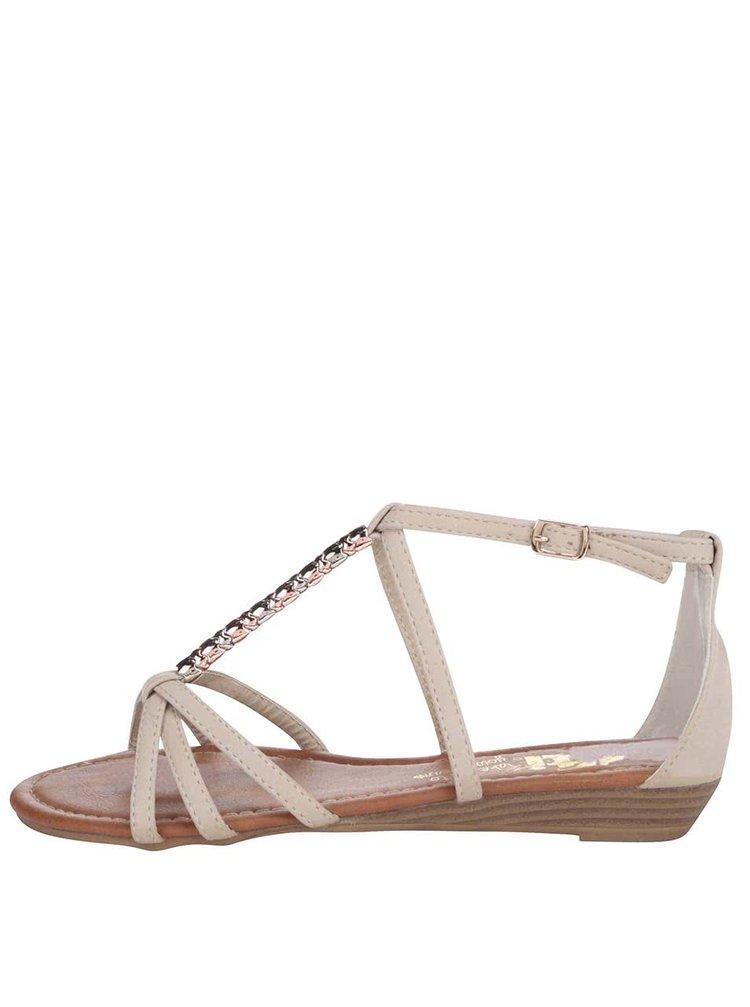 Béžové sandálky s ozdobnou aplikací Xti