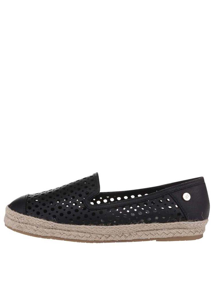 Černé perforované loafers Xti