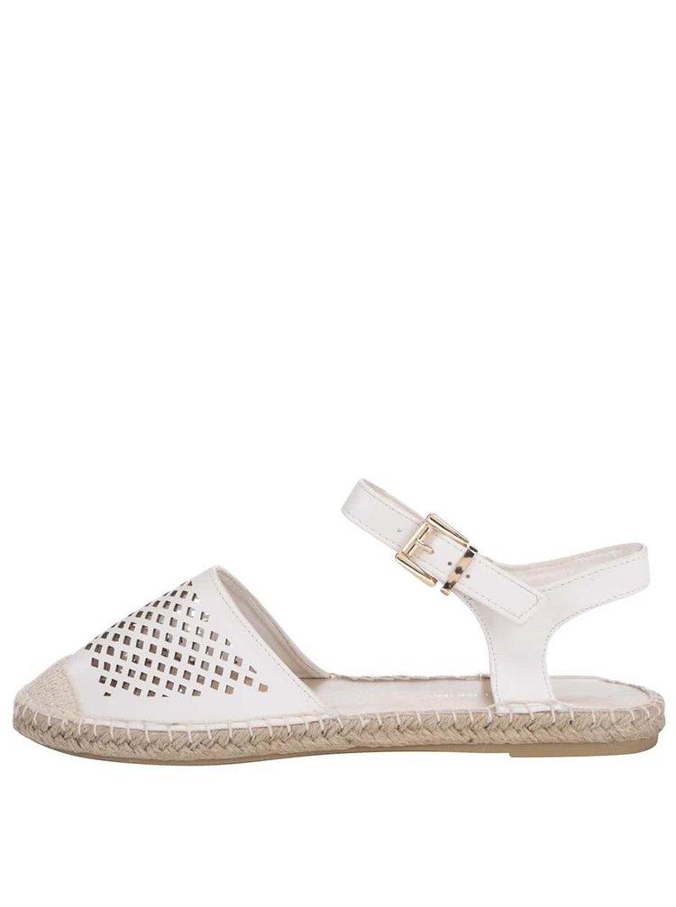 Krémové sandálky s perforovanou špičkou Dorothy Perkins