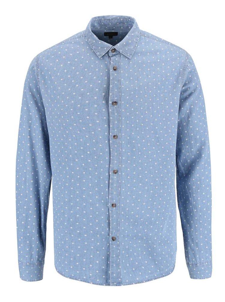 Modrá košeľa s bodkami !Solid Betwin