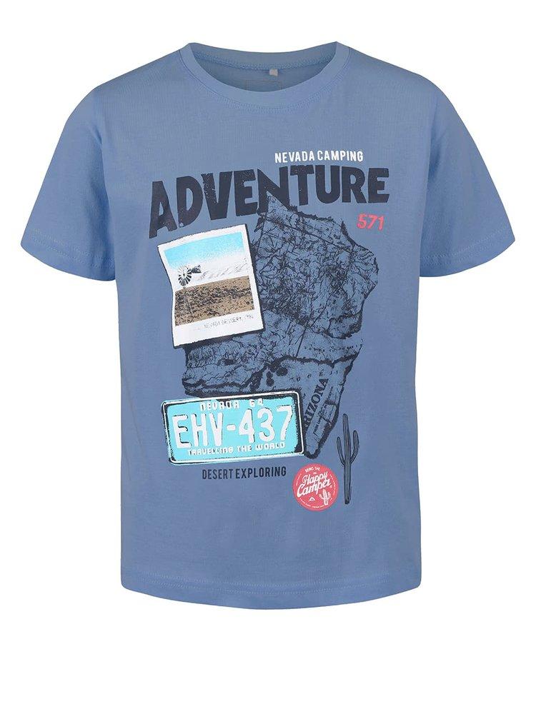 785773475bc5 ... Modré chlapčenské tričko s potlačou name it Thias
