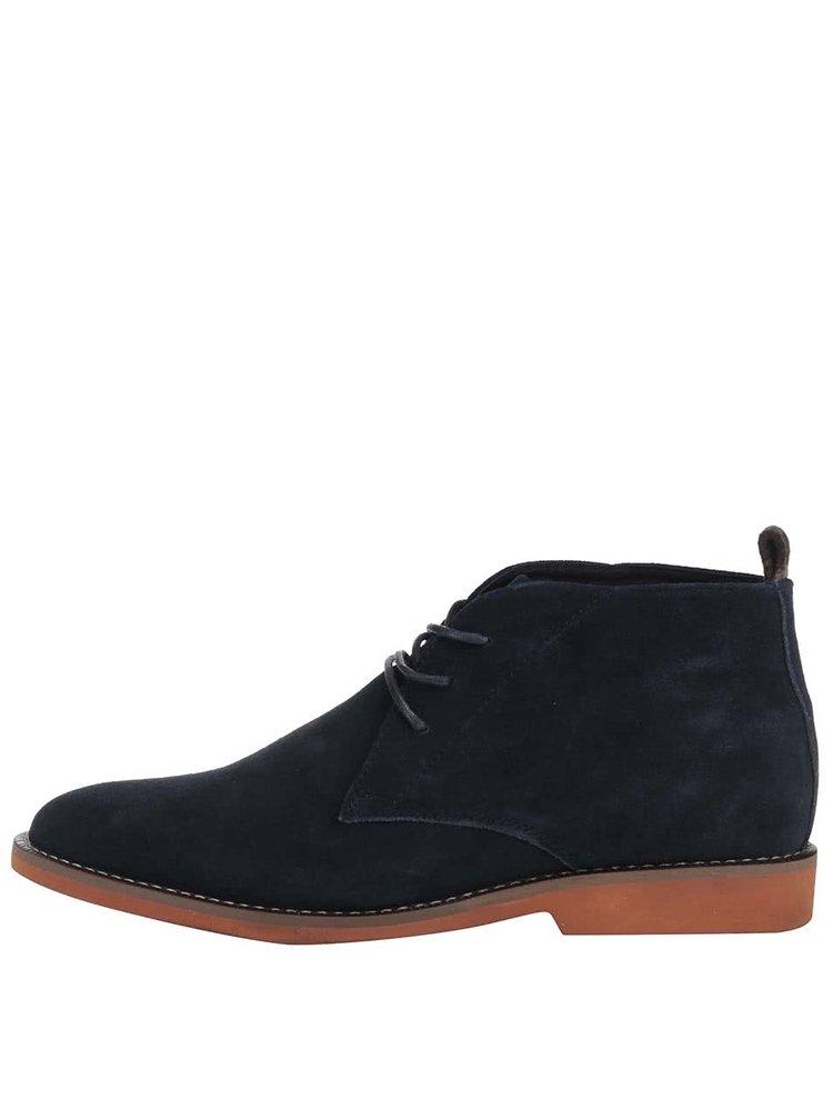 Tmavě modré kožené kotníkové boty Dice Payton