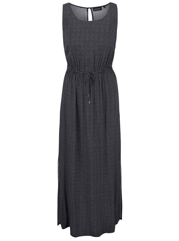 Čierne vzorované maxi šaty Broadway Fannie