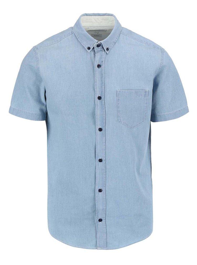 Svetlomodrá rifľová košeľa s krátkym rukávom Jack & Jones Caffrey