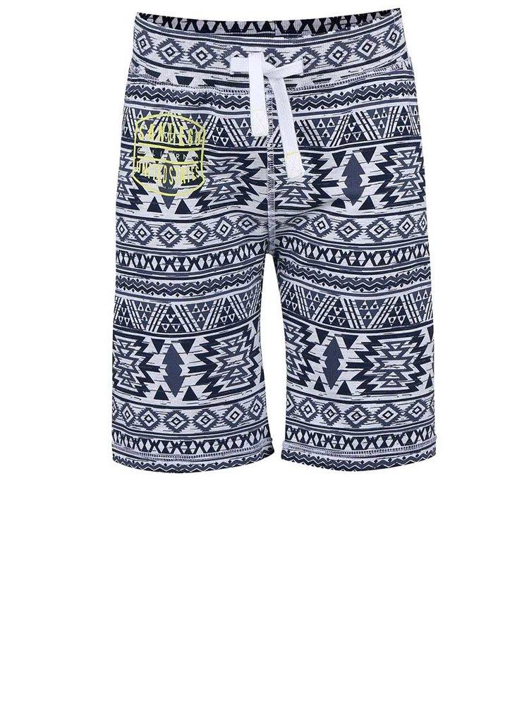 Sivo-modré chlapčenské vzorované šortky name it Tibo