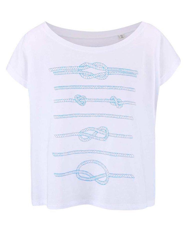 Bílé dámské volnější tričko ZOOT Originál Lana