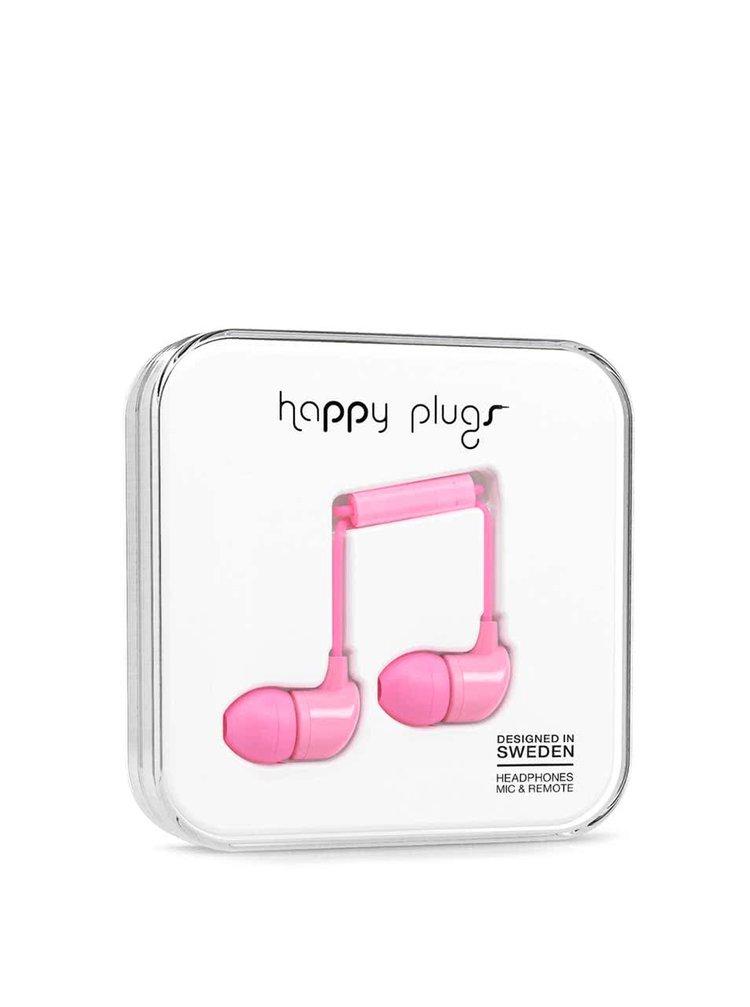 Světle růžová In-Ear sluchátka Happy Plugs