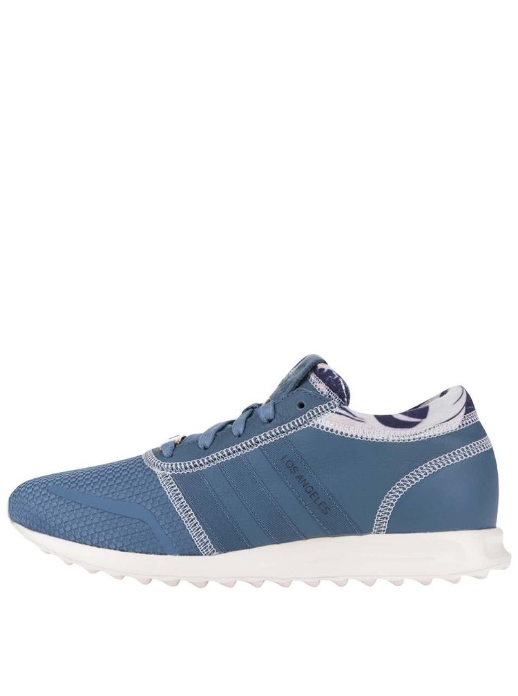 Pantofi sport din piele adidas Originals Los Angeles albaștri