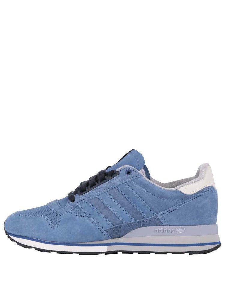 Pantofi sport din piele adidas Originals ZX 500 OG albaștri