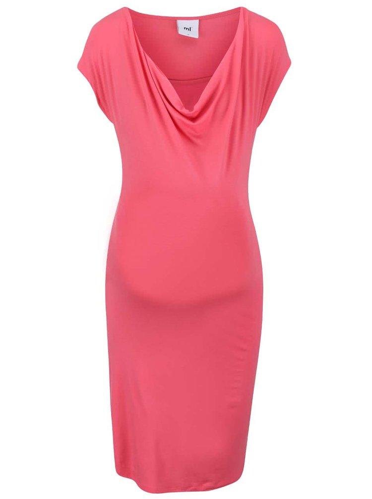 Růžové těhotenské/kojicí šaty Mama.licious Ally