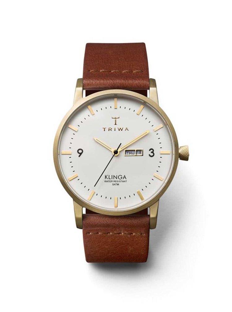 Hnědé unisex kožené hodinky TRIWA Ivory Klinga