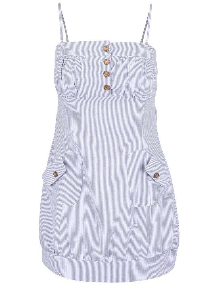 Bílo-modré pruhované šaty Haily´s Elfride