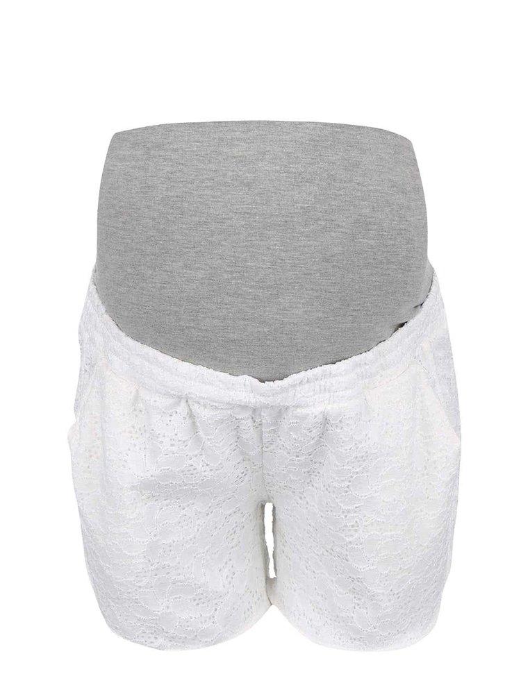 Pantaloni scurți Mama.licious New Sica crem pentru graviduțe