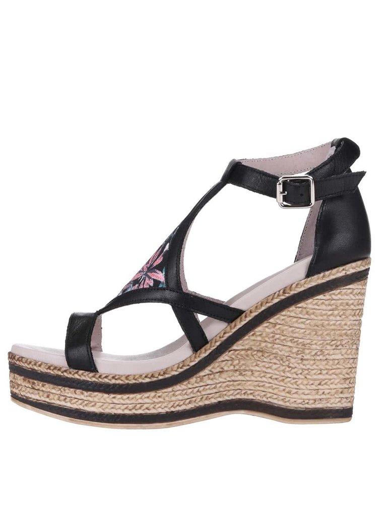 Sandale OJJU negre, cu platformă
