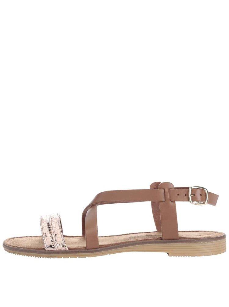 Sandale Tamaris maro din piele
