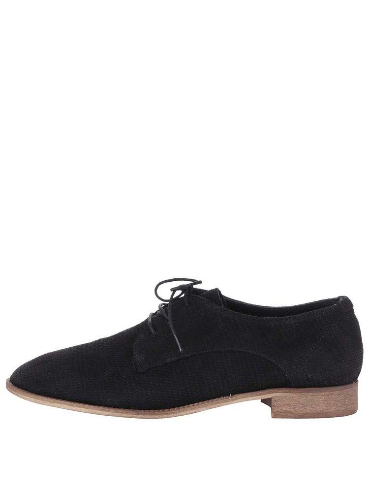 Pantofi Dune London Faris negri de damă din piele
