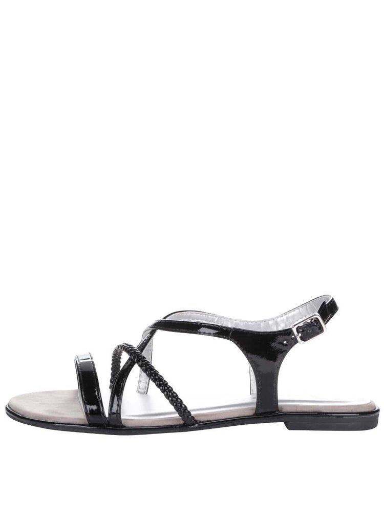 Černé sandálky s pásky Tamaris