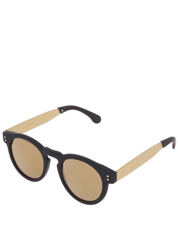 Čierno-žlté unisex slnečné okuliare Komono Clement