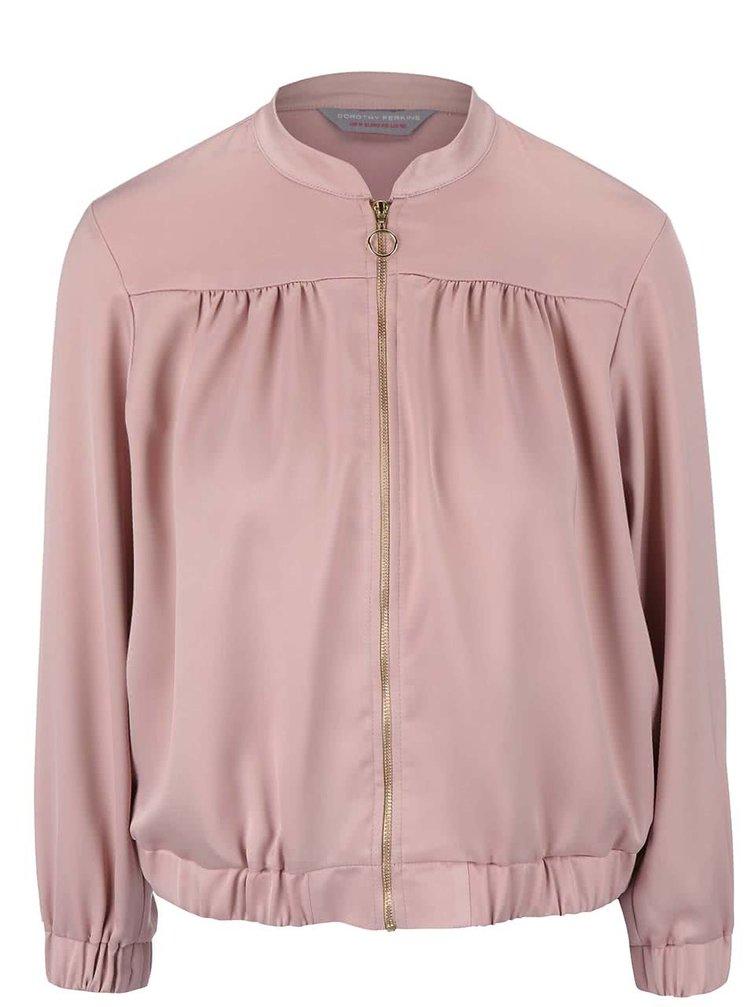 Jachetă bomber Dorothy Perkins Petite roz deschis